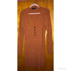 Burnt Orange Sweater Dress